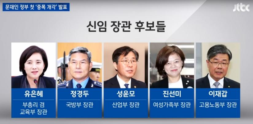 문재인정부2기개각